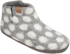 GreenComfort-ulltofflor-grey--dots-prickiga-tovade-tofflor-Toffelshoppen