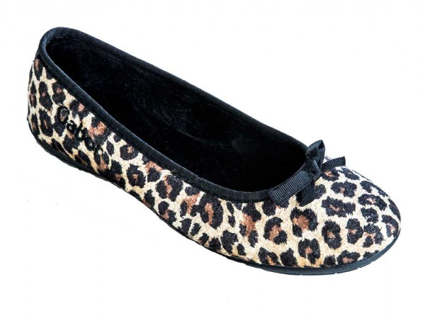 Tofflor Gabor Leopardo fleece TOFFELSHOPPEN