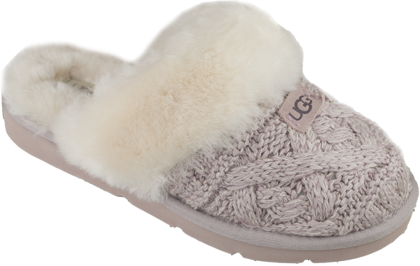UGG Cosy cable damtofflor-rosa-Toffelshoppen.se
